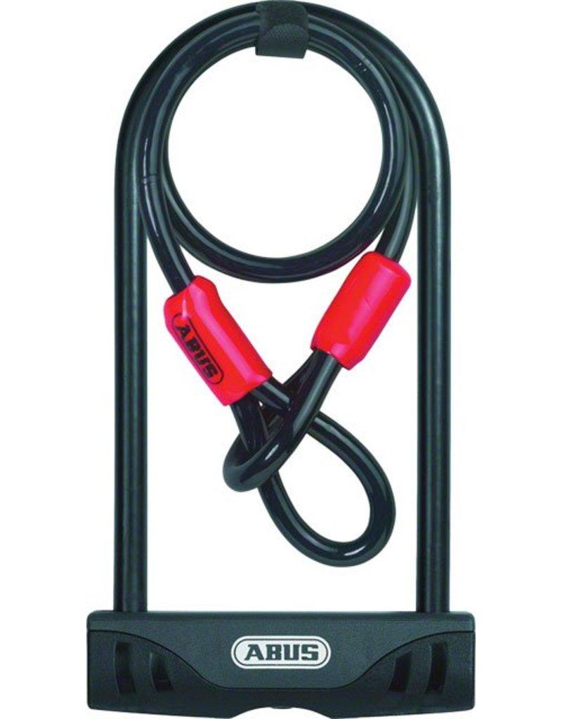 "ABUS Keyed U-Lock Facilo 32 Plus Cobra Cable: 230cm (9""): Black"