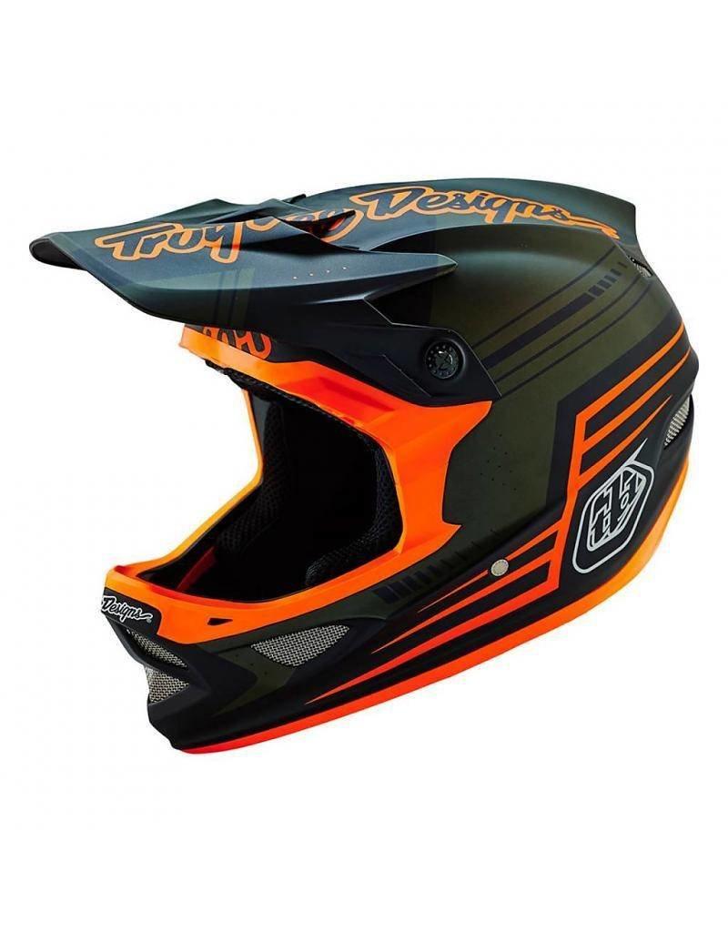 Troy Lee Designs Troy Lee Designs D3 Composite Helmet Berzerk Army Green/Orange, Medium