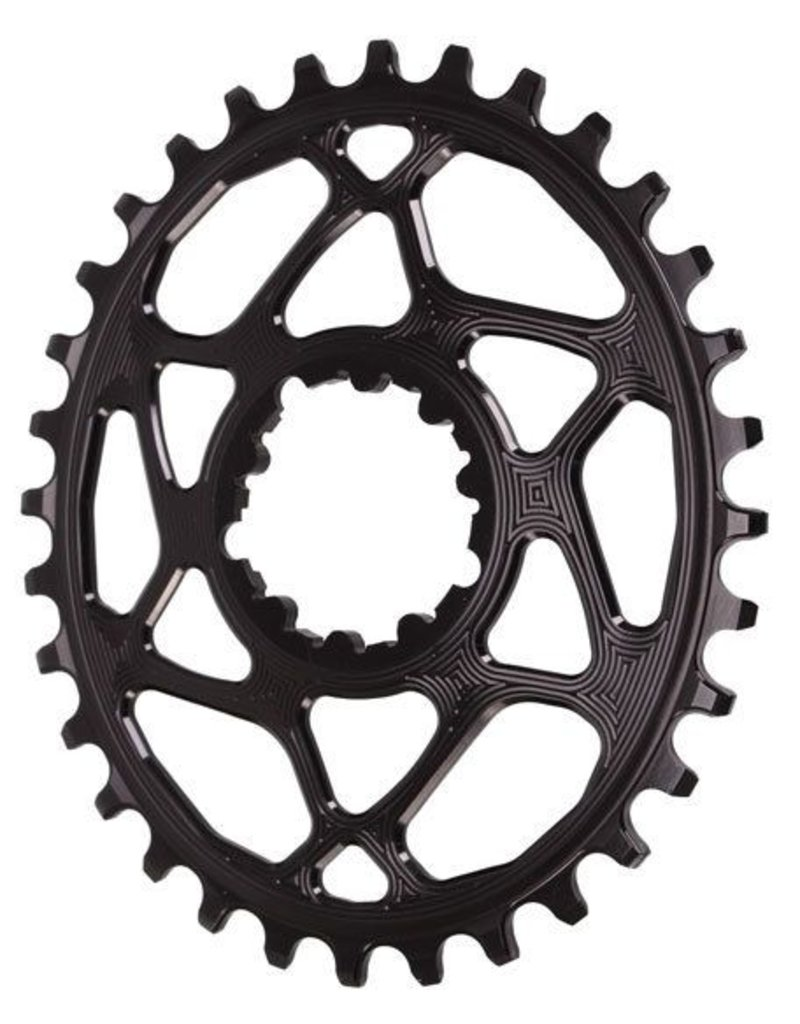 Absolute Black Spiderless GXP (Boost/3mm) DM Oval chainring, 32T - bl