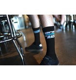 Transition Bicycle Company Transition Socks, Split Stripe, Black/White/Blue, One Size