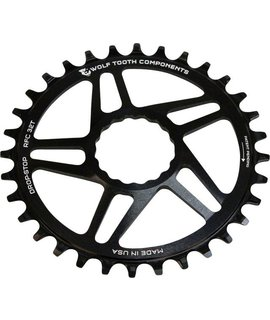 Wolf Tooth Components Wolf Tooth Components Drop-Stop Chainring: 28T, Direct Mount for RaceFace Cinch Cranks, Black