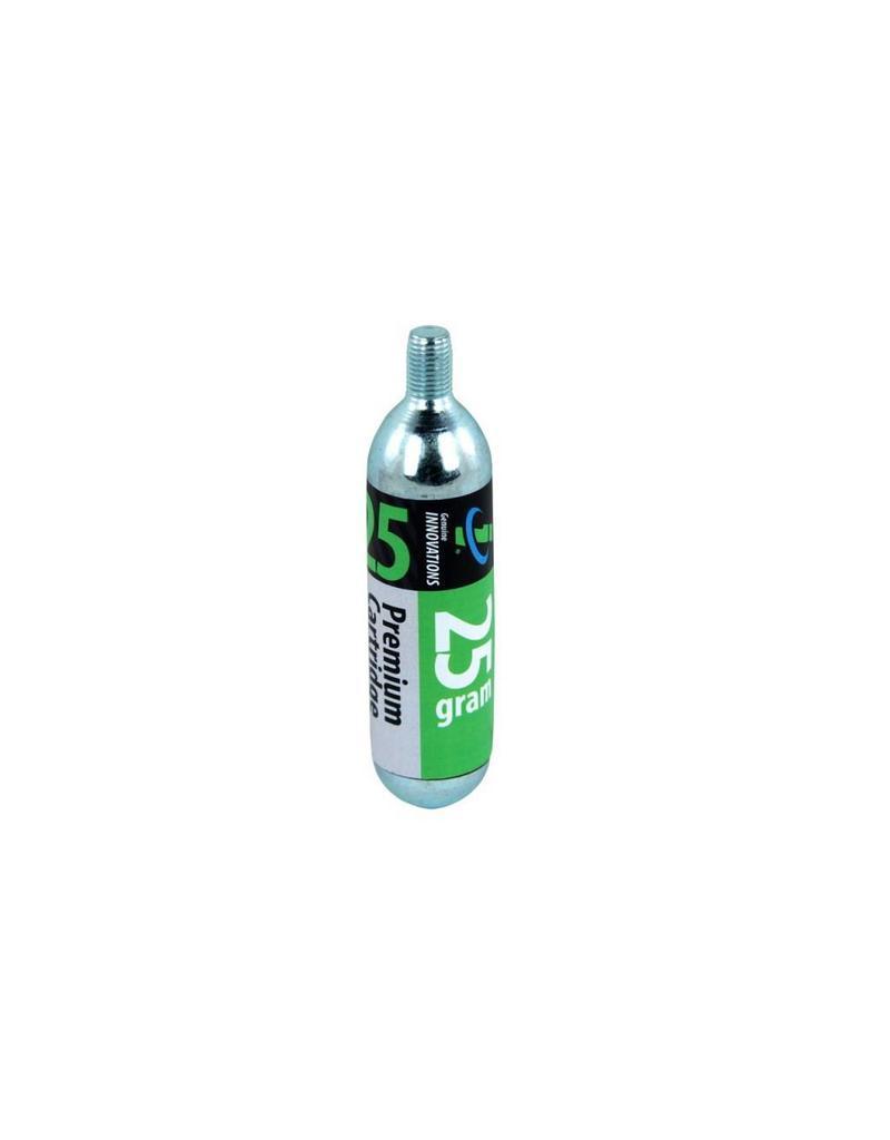 Genuine Innovations 25g Threaded CO2 Cartridges, Single