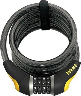 OnGuard Doberman Combo Cable Lock: 6' x 12mm, Gray/Black/Yellow