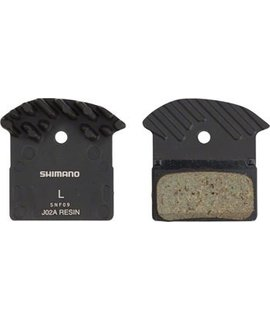 Shimano Shimano J02A Resin Disc Brake Pads and Spring with Fins, for XTR BR- M9020, XT BR-M8000, SLX BR-M675 Calipers