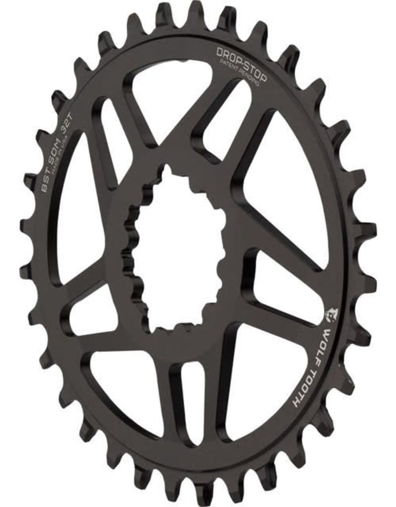 Wolf Tooth Components Wolf Tooth Components PowerTrac Drop-Stop Chainring: 32T, SRAM Direct Mount, 3mm Offset, For Boost Chainline, PowerTrac