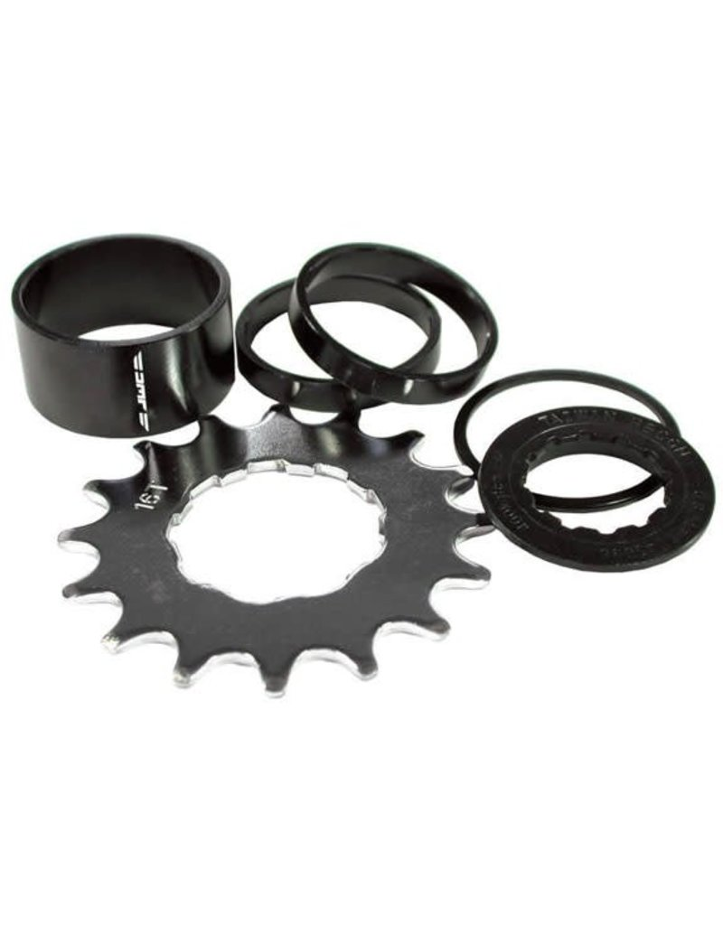 Singlespeed spacer kit, 16t - black