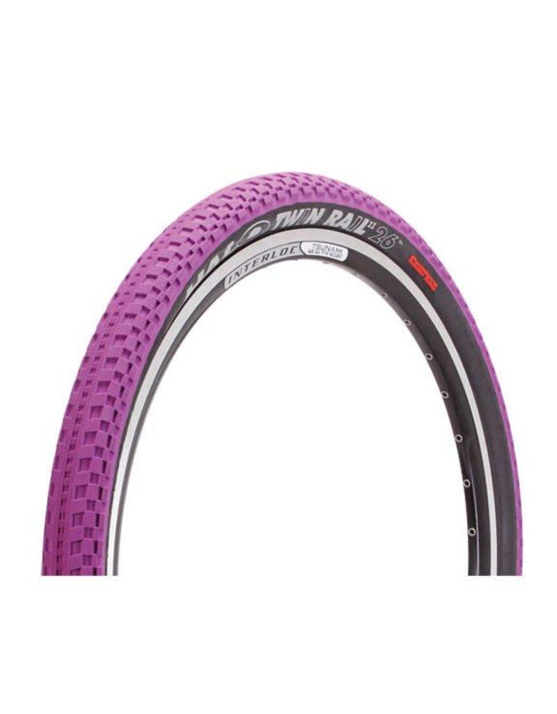 "Halo Halo Twin Rail W Tire, 26 x 2.2""  Purple"