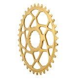 Absolute Black Absolute Black Spiderless Cinch DM Oval Boost chainring, 36T - gold