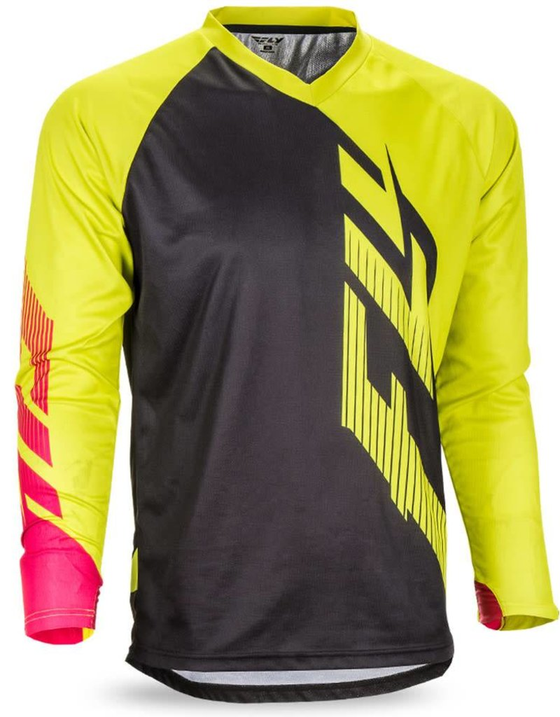 Fly Racing Fly Racing Radium Jersey Black/Lime/Pink, Extra Large