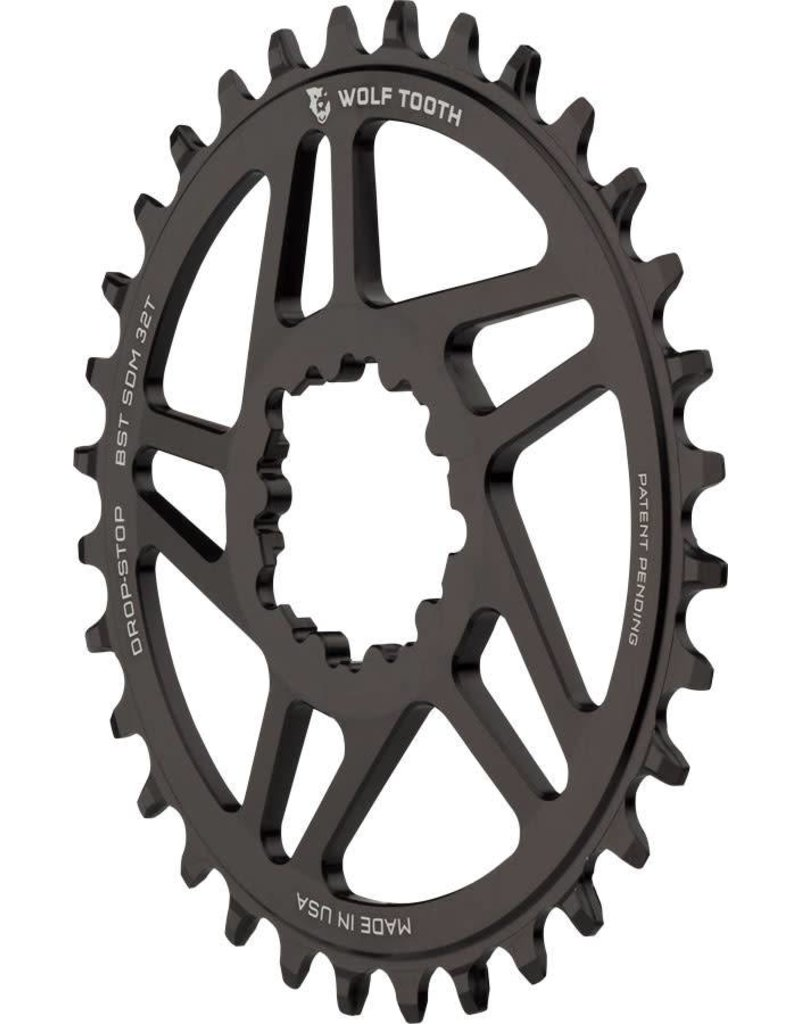 Wolf Tooth Components Wolf Tooth Components Drop-Stop Chainring: 32T, SRAM Direct Mount, 3mm Offset, For Boost Chainline