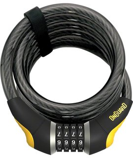 OnGuard Doberman Combo Cable Lock: 6' x 15mm, Gray/Black/Yellow