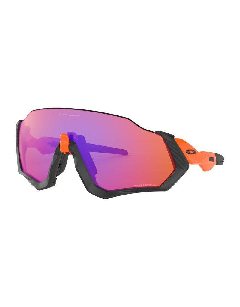 Oakley Oakley Flight Jacket Matte Black/Orange w/PRIZM Trail
