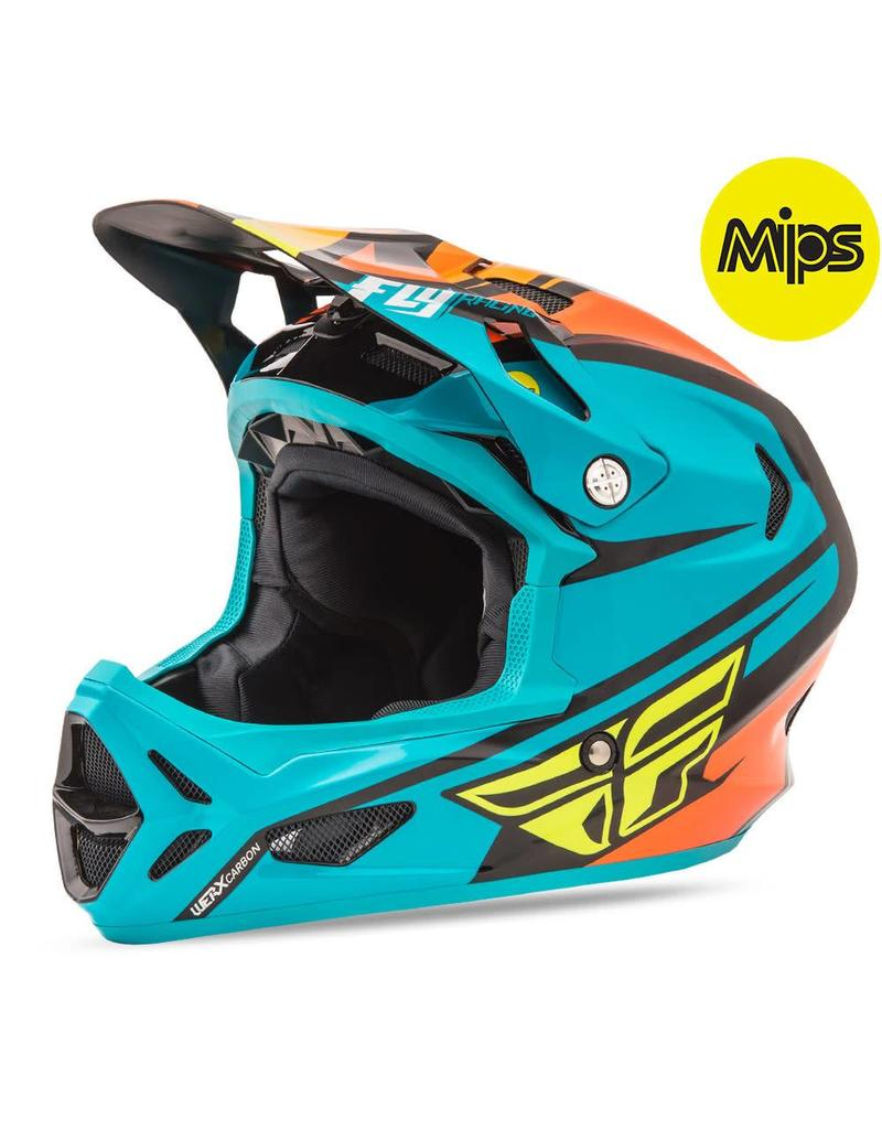Fly Racing Fly Racing Werx Mips Rival Helmet Teal/Orange/Black Medium