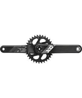 SRAM SRAM X01 Eagle Carbon Boost 148 DUB Crankset 175mm Direct Mount 32t X- Sync 2 Chainring Black, Bottom Bracket Not Included