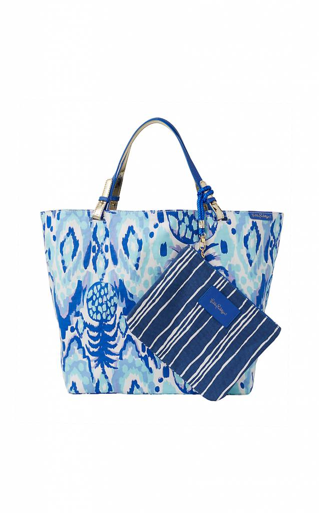 LILLY PULITZER LILLY PULITZER BEACH BATHERS REVERSIBLE TOTE BAG