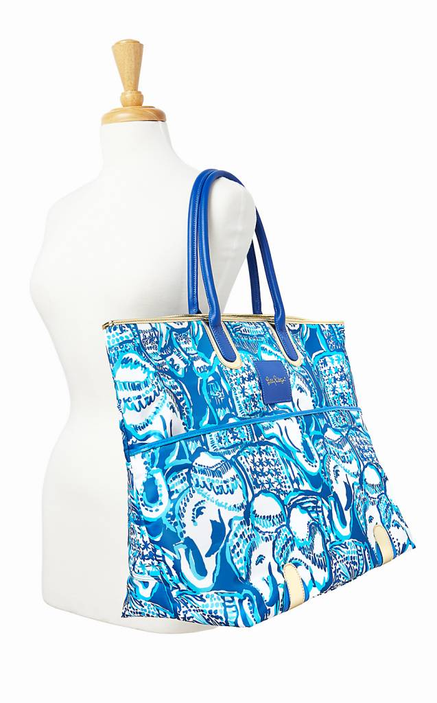 LILLY PULITZER LILLY PULITZER JET-SET WEEKENDER TOTE BAG