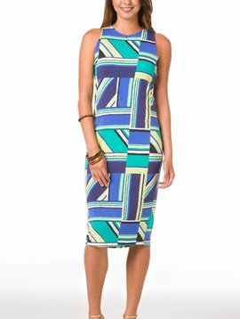TORI RICHARD RIGHT ANGLES KARLEY DRESS