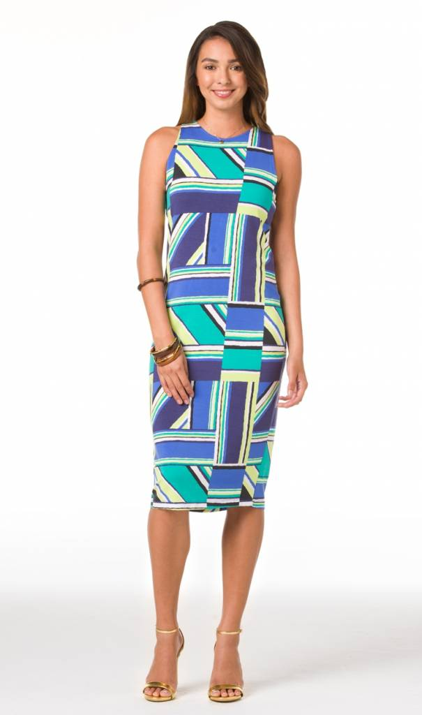 TORI RICHARD RIGHT ANGLES KARLEY DRESS
