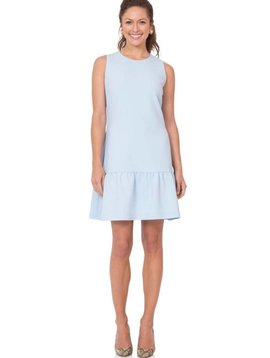 SAIL TO SABLE SLEEVELESS RUFFLE HEM DRESS