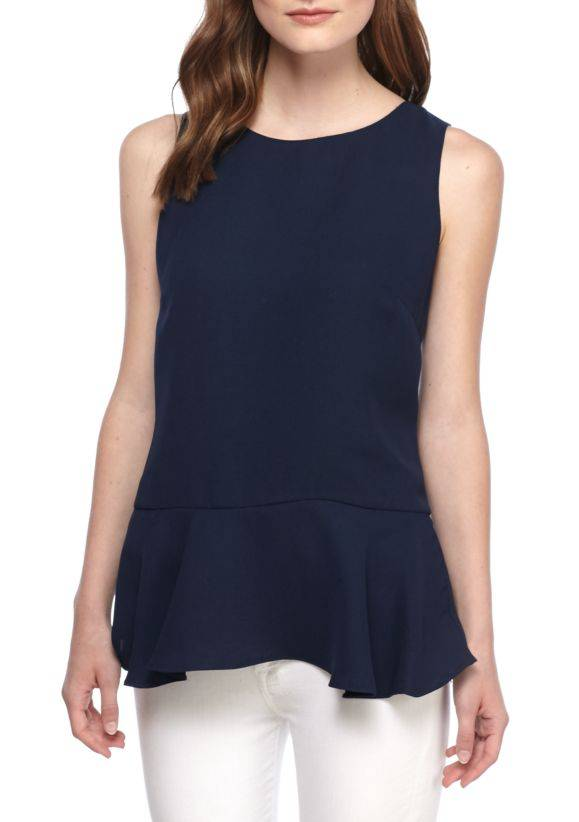 SAIL TO SABLE SAIL TO SABLE SLEEVELESS FLOUNCE TOP