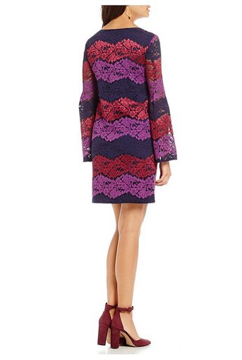 TRINA TURK TRINA TURK LACE REVUE DRESS
