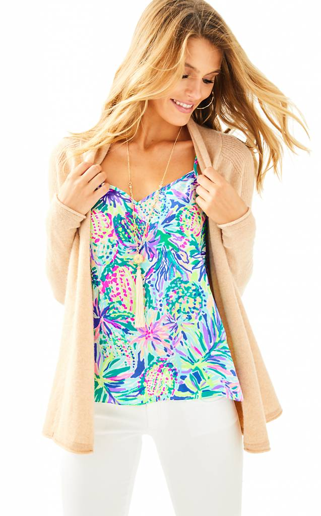 LILLY PULITZER LILLY PULITZER SEABROOK CASHMERE CARDIGAN