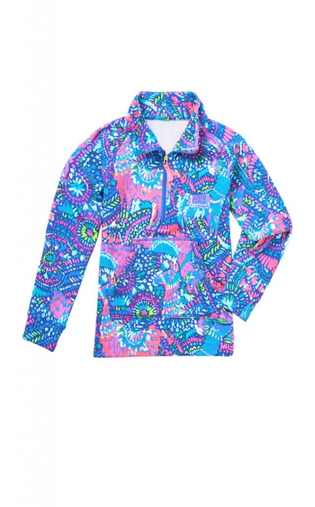 LILLY PULITZER LILLY PULITZER GIRLS LITTLE SKIPPER PRINTED POPOVER