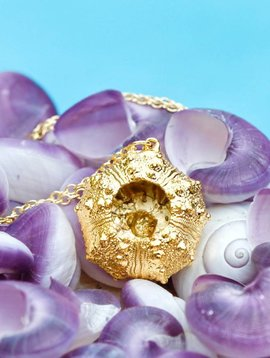 SASHA LICKLE 24KT GOLD DIPPED SEA URCHIN NECKLACE