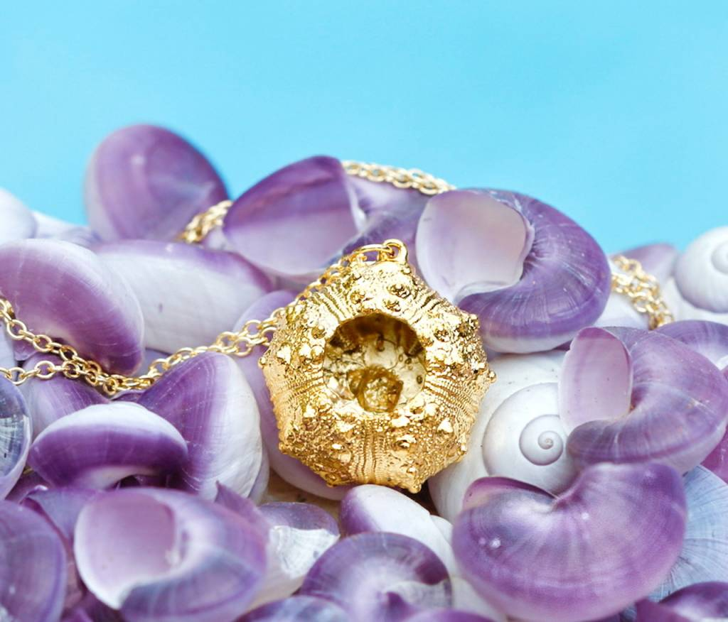 SASHA LICKLE 24KT GOLD DIPPED SEA URCHIN NECKLACE SLN66