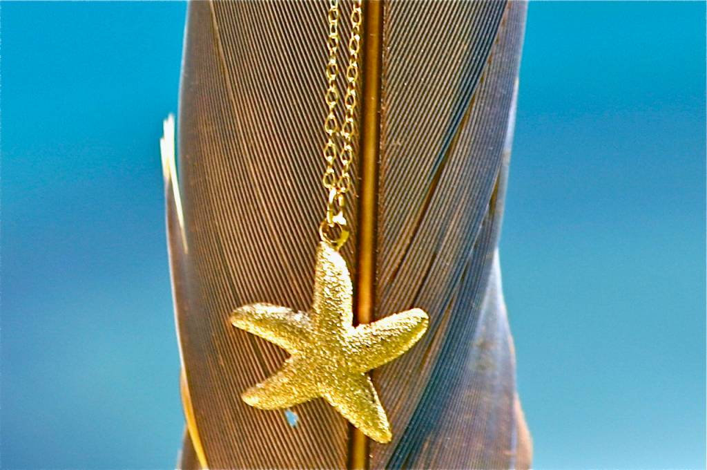 SASHA LICKLE SASHA LICKLE GOLD STARFISH NECKLACE SLN13