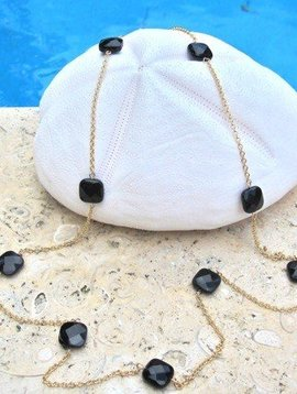SASHA LICKLE ONYX CHAIN NECKLACE