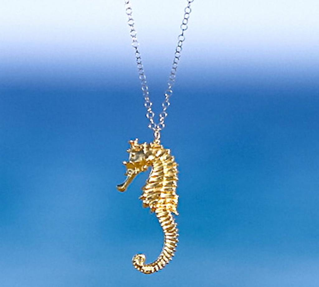 24kt gold dipped seahorse necklace corrico sasha lickle sasha lickle 24kt gold dipped seahorse necklace aloadofball Image collections