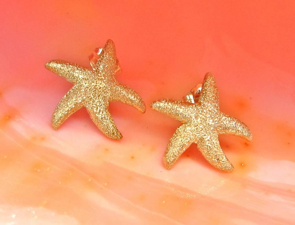 Sasha Lickle Gold Starfish Stud Earrings