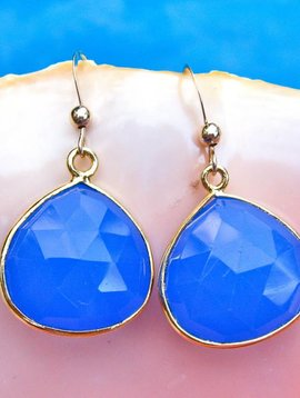 SASHA LICKLE BLUE ONYX DROP EARRINGS