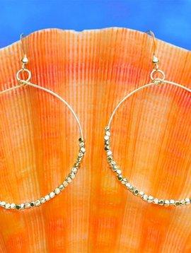 SASHA LICKLE BEADED HOOP EARRINGS