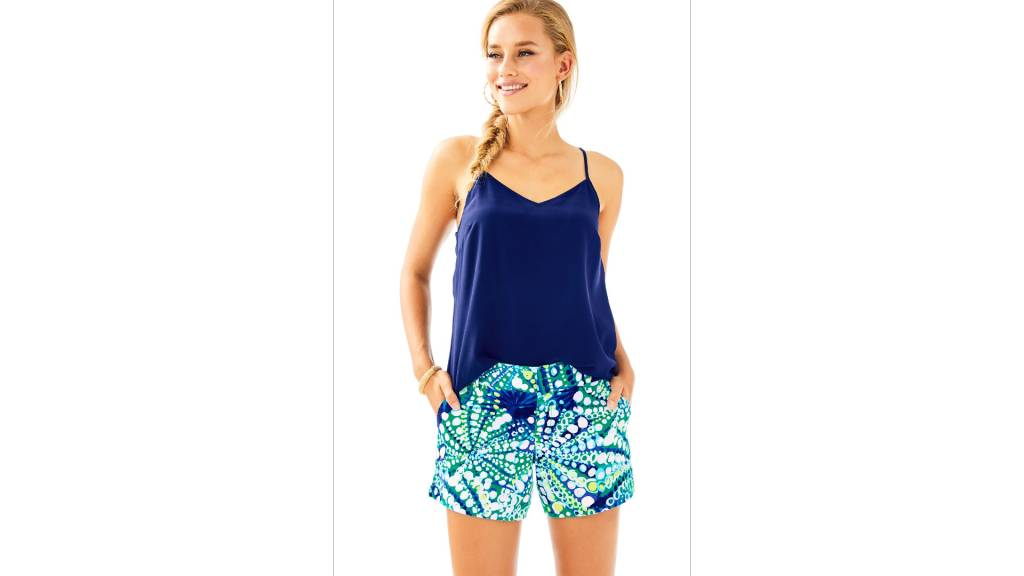 "LILLY PULITZER 5"" CALLAHAN STRETCH SATEEN SHORT"