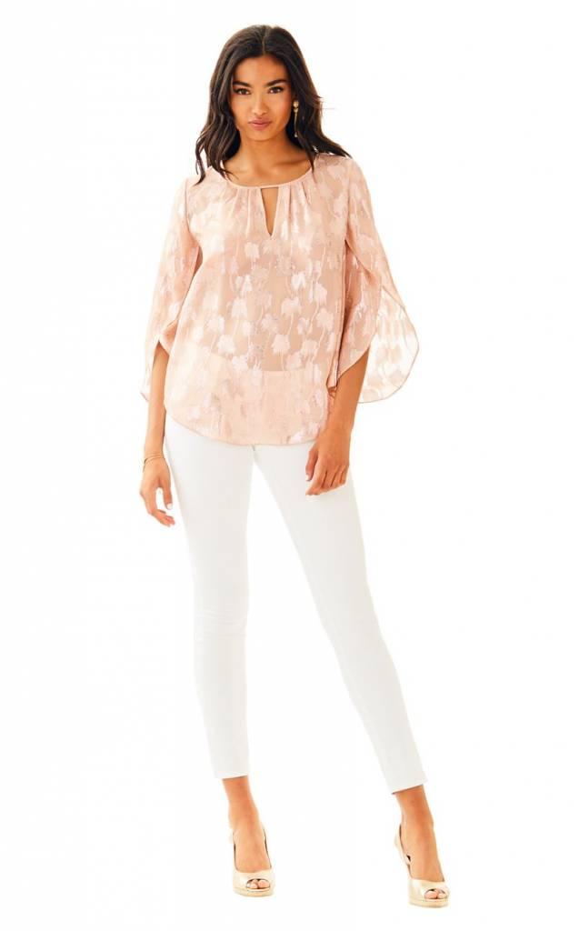 LILLY PULITZER LILLY PULITZER BECCER SILK CLIP TOP