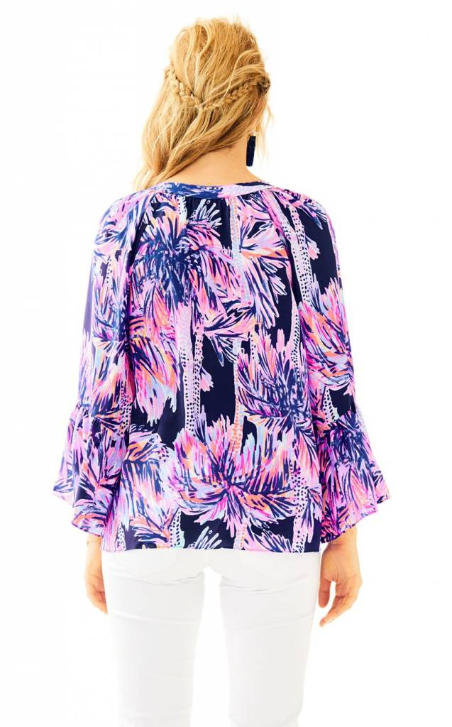 LILLY PULITZER LILLY PULITZER MATILDA SILK TOP