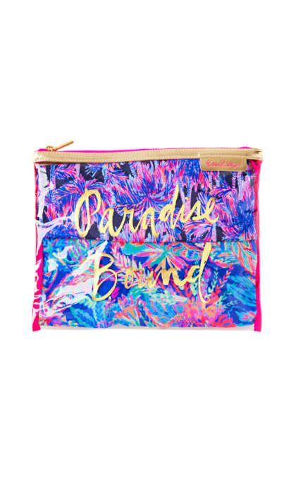 LILLY PULITZER  LILLY PULITZER PARADISE BOUND TRAVEL ORGANIZER POUCH