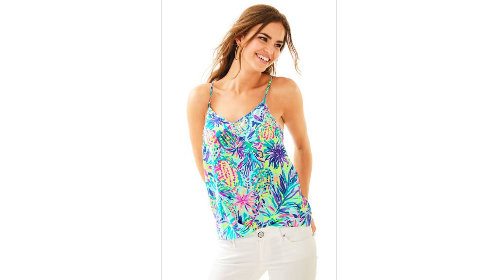LILLY PULITZER LILLY PULITZER DUSK SILK TOP