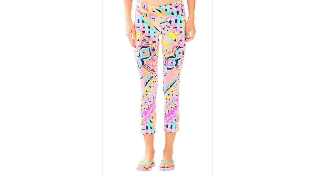 "LILLY PULITZER LILLY PULITZER UPF 50+ LUXLETIC 21"" WEEKENDER CROPPED PANT"