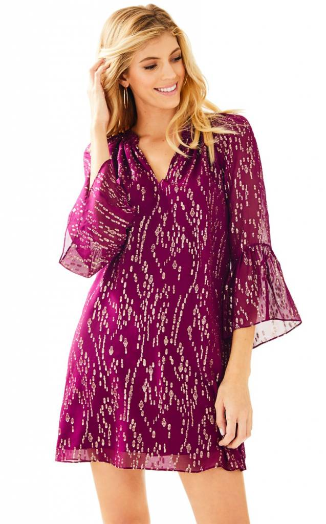 LILLY PULITZER LILLY PULITZER MATILDA SILK TUNIC DRESS
