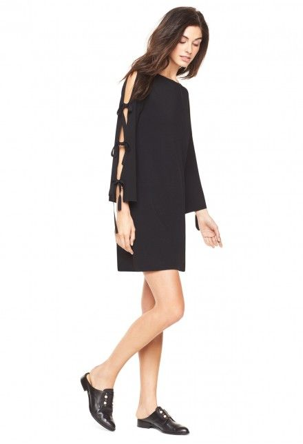 MILLY TIED TOGETHER FLARE SLEEVE DRESS