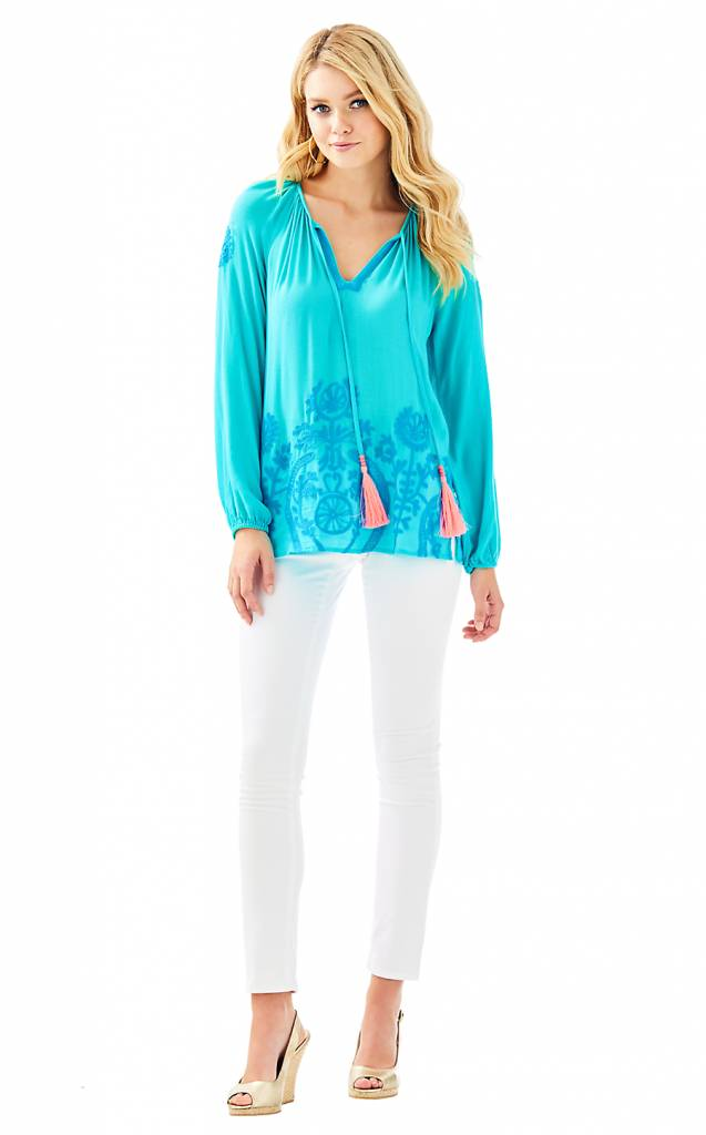 LILLY PULITZER LILLY PULITZER WILLA EMBROIDER TOP