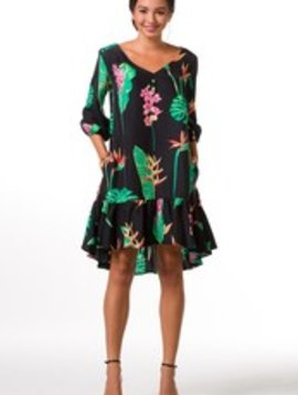 TORI RICHARD MIDNIGHT GARDEN ANGIE DRESS