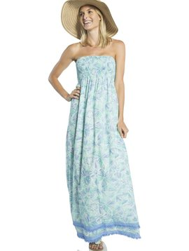 SAIL TO SABLE BLOOM PRINT MAXI STRAPLESS DRESS
