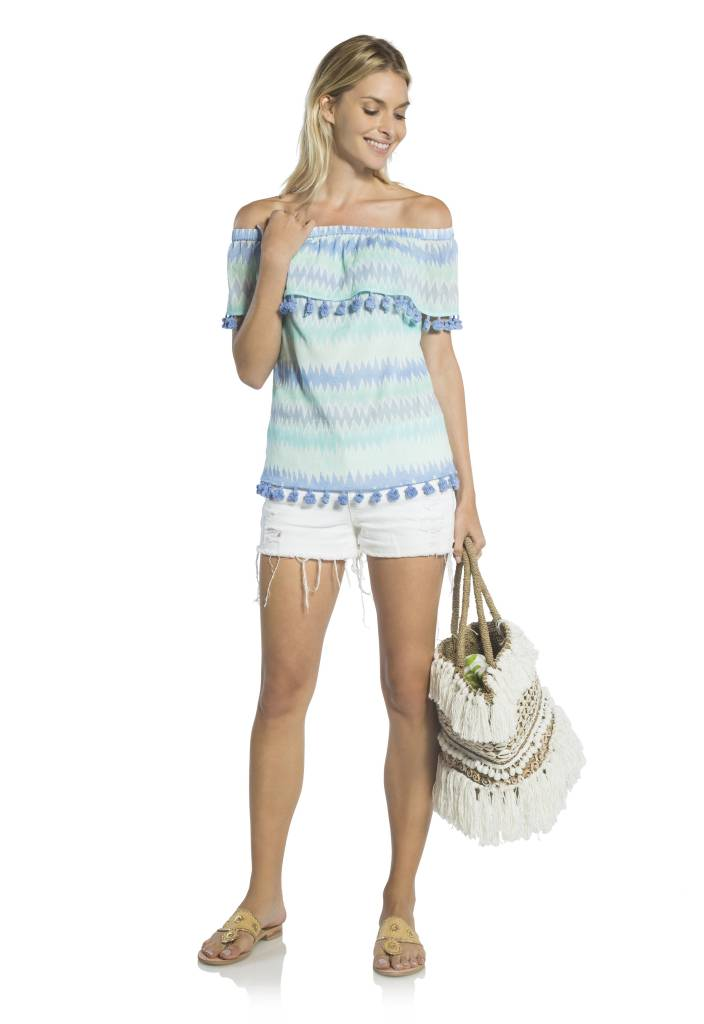 SAIL TO SABLE OFF SHOULDER TOP