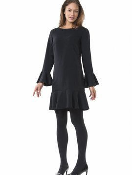 SAIL TO SABLE LONG SLEEVE FLOUNCE DRESS