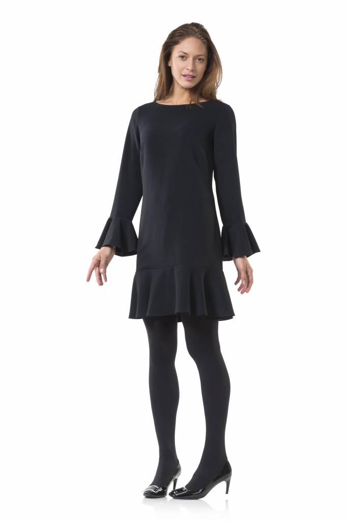 SAIL TO SABLE LONG SLEEVE FLOUNCE DRESS