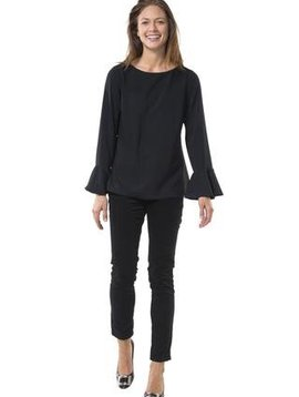 SAIL TO SABLE LONG SLEEVE FLOUNCE TOP